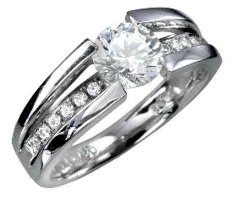指輪:PT1.0ctダイヤモンドリング